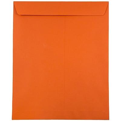 JAM Paper® 10 x 13 Open End Catalog Envelopes, Brite Hue Orange Recycled, 10/pack (87766B)