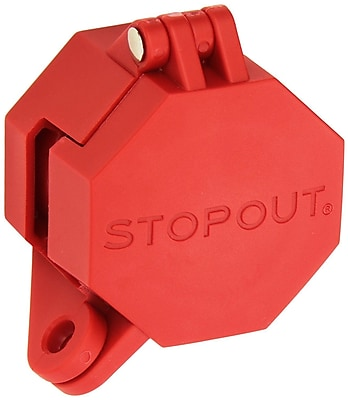 Accuform Signs® STOPOUT® Trailer Lock Glad Hand Lockout For Trailer Emergency Brake Air Lines, Red