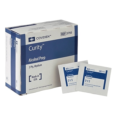 Curity® Alcohol Prep Pads, Sterile, 200/Box