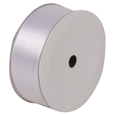 JAM Paper® Satin Ribbon, 7/8 Inch Wide x 7 Yards, White, Sold Individually (2133716395)