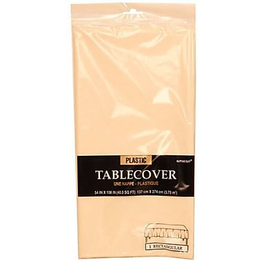 JAM Paper® Plastic Table Covers, Ivory Table Cloths, Sold Individually (291423356)