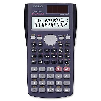 Casio® FX-300MSPlus Scientific Calculator, Gray