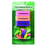 Dixon Ticonderoga® Neon Eraser Multi-pack, Assorted, 15/Pack