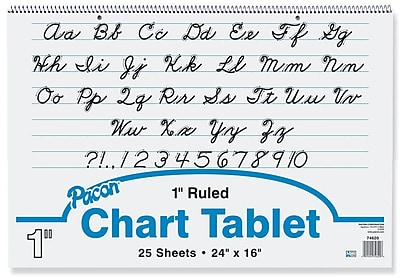 Chart Tablet Writing Paper, Cursive, 1