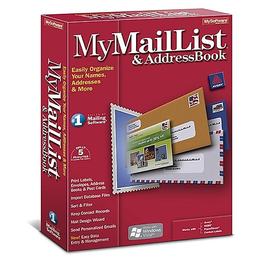mymaillist and address book for windows 1 user download staples