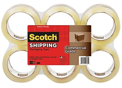 Scotch® Commercial-Grade Shipping Tape, Clear, 1.88