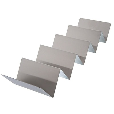American Metalcraft TSH5 Stainless Steel 4 or 5 Compartment Taco Holder, Silver