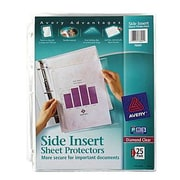Avery&reg Side Insert Clear Sheet Protectors