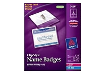 Avery Top Loading Clip Style Name Tags, 3' x 4', 100/Pack
