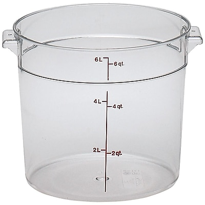 Cambro RFSCW6, 6 qt Polycarbonate Food Storage Container - Camwear Round