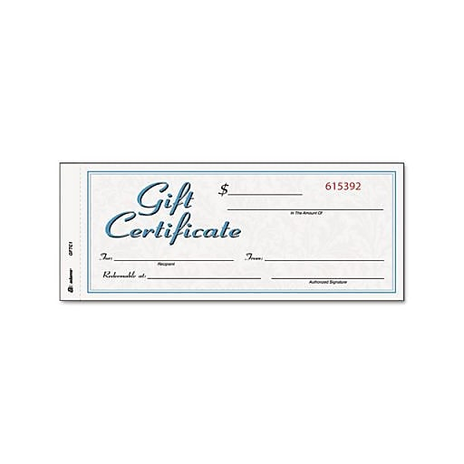 Adams gift certificates 25pack staples httpsstaples 3ps7is yadclub