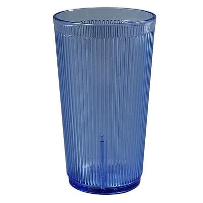 Carlisle 12 oz Crystalon Stack-All SAN Tumbler, Blue 450685
