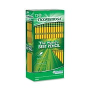 Dixon Ticonderoga® Woodcase Pencils, #2 Soft, Yellow Barrel, 72/Pack
