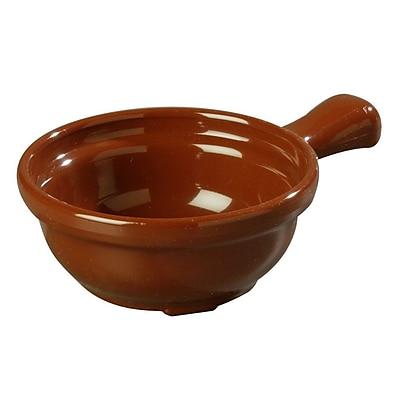 Carlisle 7006-28, 8 oz Handled Soup Bowls, Lennox Brown