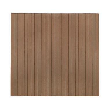Anji Mountain Natural 48''x51'' Composite Chair Mat for Carpet & Hard Floor, Rectangular, Chestnut (AMB25041)