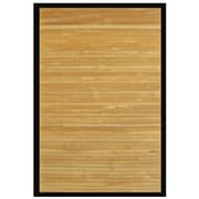 Anji Mountain Contemporary Natural Area Rug Bamboo 7' x 10' Brown (AMB0036-0710)