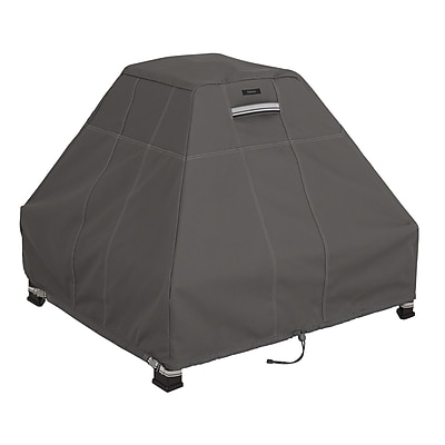 Classic Accessories® Ravenna® Stand Up Fire Pit Cover, Dark Taupe