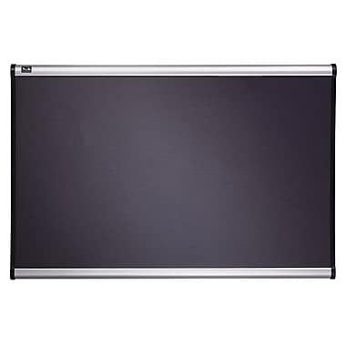 Quartet® 4' x 3' Prestige® Gray Diamond Mesh Fabric Boards with Aluminum Frame