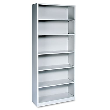 HON® Brigade™ Metal 6-Shelf Bookcase, Gray