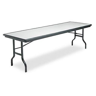 Iceberg IndestrucTable™ Rectangular Folding Table, Granite/Black, 29