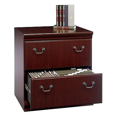 Bush Furniture Birmingham Lateral File Cabinet, Harvest Cherry (EX26671-03)