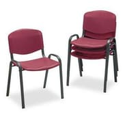 Safco  Stacking Chair Polypropylene Guest, Burgundy