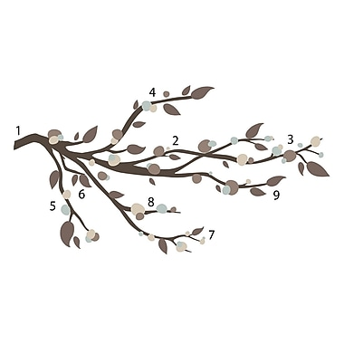 RoomMates® Mod Branch Peel and Stick Wall Decal, 9