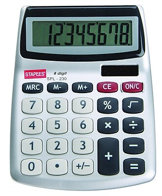 Staples® SPL-230-CC 8-Digit Display Calculator