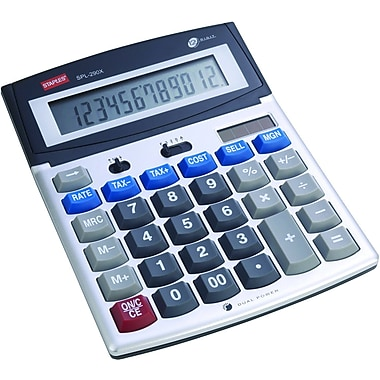 staples spl 290x 12 digit desktop calculator staples