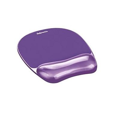 Fellowes Crystal Gel Mouse Pad/Wrist Rest Purple