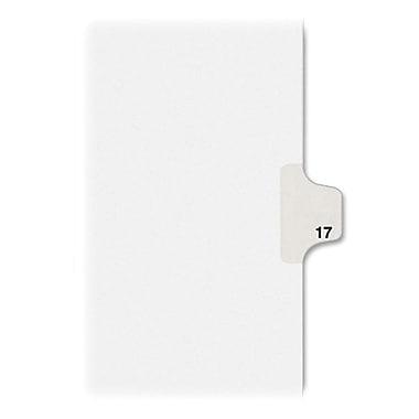 Kleer-Fax® Numeric Tab Title 17