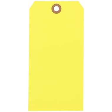 Staples® Yellow Shipping Tags, #8, 6-1/4