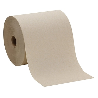 Envision® Hardwound Paper Towel Rolls, Natural, 1-Ply, 6 Rolls/Case