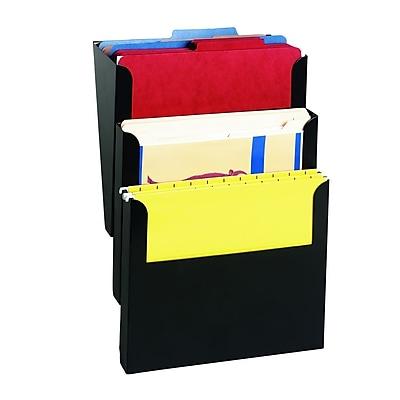 STEELMASTER® 3-Pocket Steel Wall File, Letter-Size (2713WFBK)