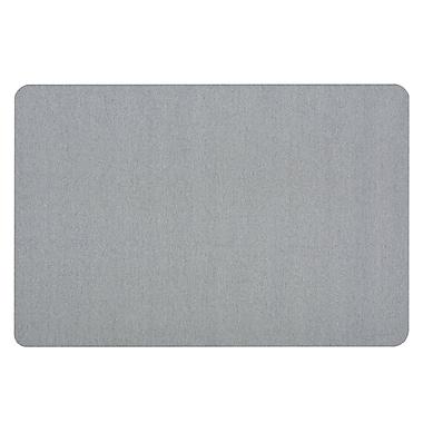 Quartet® 4' x 3' Light Blue Oval Office™ Fabric Bulletin Board