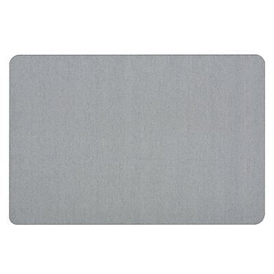 Quartet® Oval Office™ Fabric Bulletin Board, Frameless, Light Blue, 4'W x 3'H