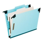 Pendaflex® Hanging Classification Folders, Top Tab, 1 Divider, Letter Size, Light Blue, 10/Box (59251)