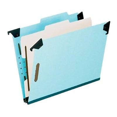 Pendaflex® Hanging Classification Folders, Letter Size, 1 Partition, Light Blue