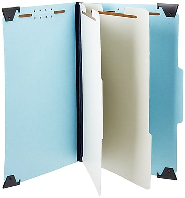 Pendaflex® Hanging Classification Folders, Letter Size, 2 Partitions, Light Blue