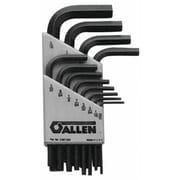 Allen® Tools 9 Pieces Metric Short Arm Hex Key Set, 1.5 - 10 mm