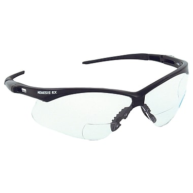 Jackson Nemesis™ ANSI Z87.1 Rx V60 Reader Safety Glasses, Clear, 1.0 Diopter