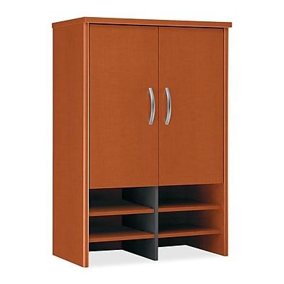 Bush Business Furniture Westfield 30W Hutch, Auburn Maple, Installed (WC48597FA)