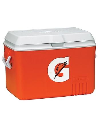 Gatorade® 24 in (L) x 15 in (W) x 16 in (H) Orange Plastic Ice Chest, 48 qt