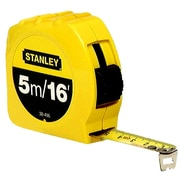 Stanley® Polymer Coated Single Side Measuring Tape, 16 ft (L) x 3/4 in (W) Blade, Inch/Metric