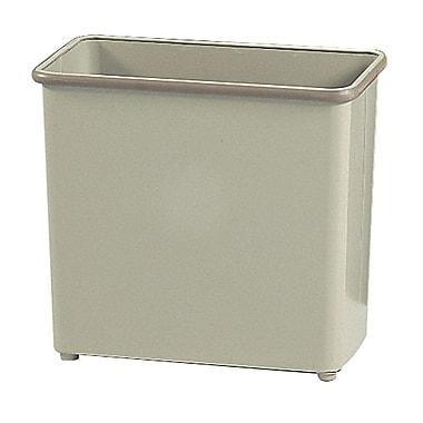 Safco® 27 1/2-Quart Rectangular Fire-Safe Wastebasket, Sand