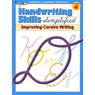 Essential Learning Handwriting Skills Simplified - Improving Cursive Writing Book (ELP0228)