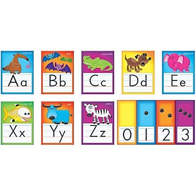 Trend® Bulletin Board Sets, Awesome Animals Alphabet Cards, Standard Manuscript