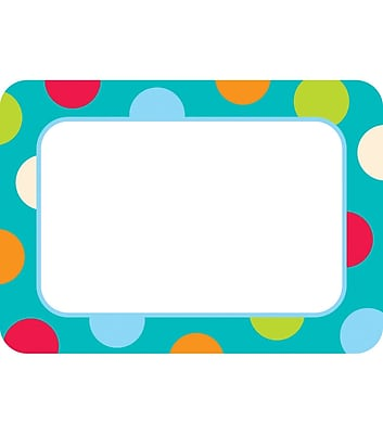 Creative Teaching Press™ Name Tag, Dots On Turquoise (CTP4516)