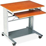 """Safco Eastwinds® Empire Series Mobile Workstation, Medium Cherry/Gray, 29 3/4""""H x 29 3/4""""W x 23 1/2""""D"""