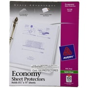 Avery® Semi-Clear Economy Weight Sheet Protectors, 100/Pack